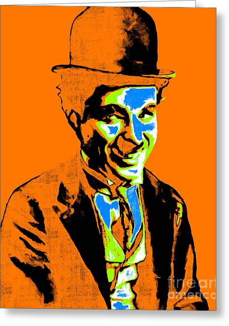 Charlie Chaplin 20130212p28 Greeting Card by Wingsdomain Art and Photography