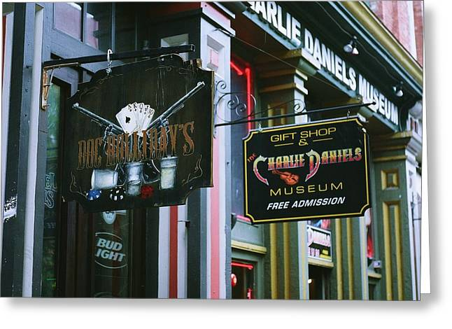 Charlie Daniels Museum Greeting Card by Linda Unger