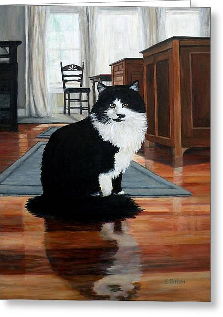 Charlie Greeting Card by Eileen Patten Oliver