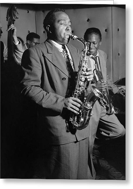 Charlie Parker (1920-1955) Greeting Card by Granger
