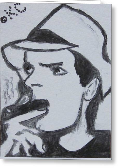 Charlie Sheen Greeting Card by Kathy Marrs Chandler