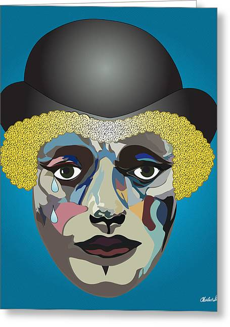 Charlie's Clown  Greeting Card by Charles Smith