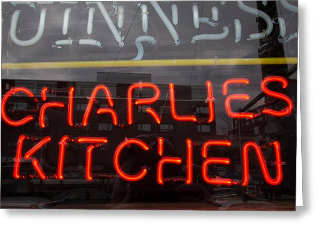 Charlies Kitchen Greeting Card