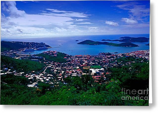 Charlotte Amalie Port Greeting Card by Bill Bachmann