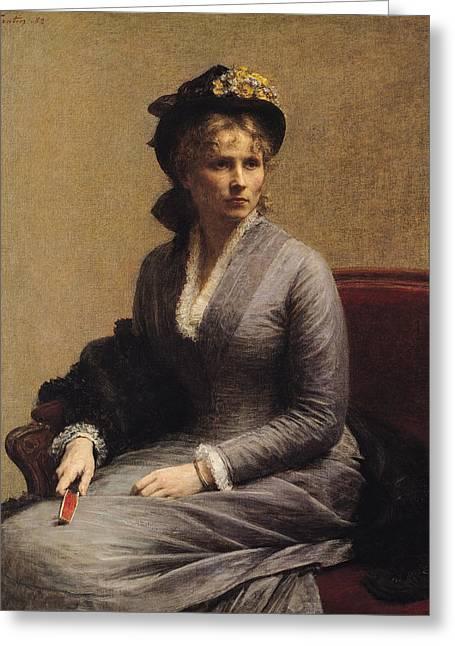 Charlotte Dubourg  Greeting Card by Ignace Henri Jean Fantin-Latour