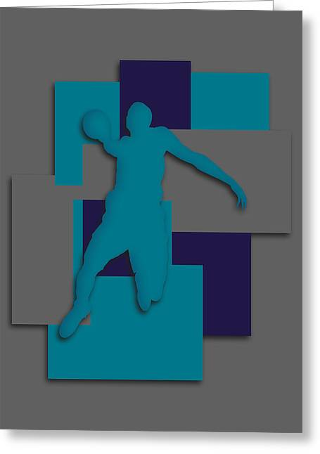 Charlotte Hornets Art Greeting Card
