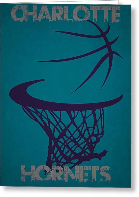 Charlotte Hornets Hoop Greeting Card