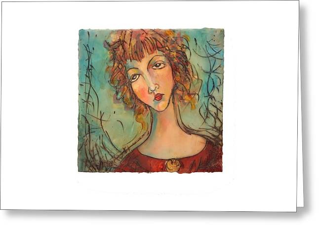 Charlotte Paintings Greeting Cards - Charlotte Greeting Card by Janet McIntyre