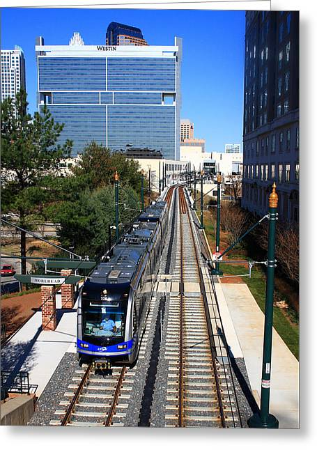 Charlotte Light Rail Greeting Card