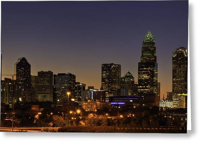 Greeting Card featuring the photograph Charlotte Nc by Serge Skiba