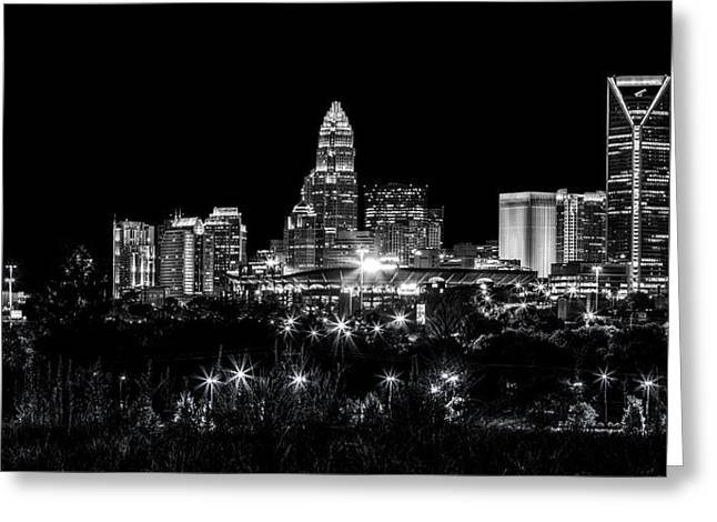 Charlotte Night Greeting Card by Chris Austin