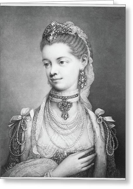 Charlotte Sophia Greeting Card by Thomas Frye