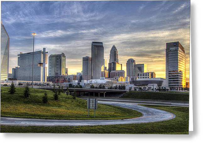 Charlotte Sunrise Greeting Card by Chris Austin