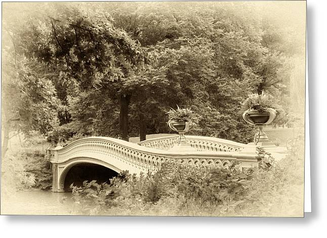 Charm Of Bow Bridge Greeting Card by Jessica Jenney