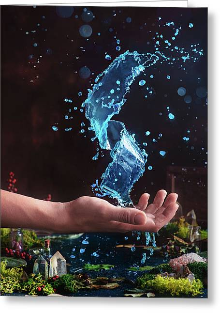 Charm Of Clear Water Greeting Card
