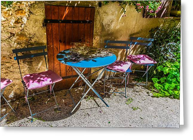 Greeting Card featuring the photograph On The Patio by Dany Lison