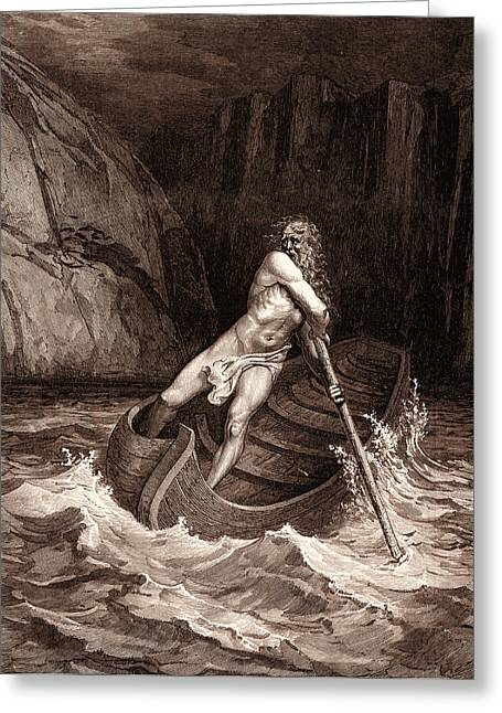 Charon, The Ferryman Of Hell Greeting Card by Litz Collection