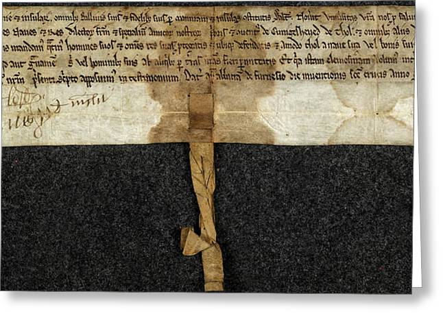Charter Of Magnus Greeting Card by British Library