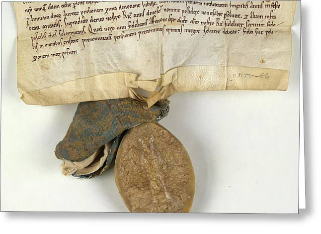 Charter Of Waltham On The Wolds Greeting Card