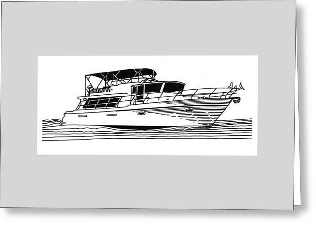 Charter Yacht Greeting Card by Jack Pumphrey