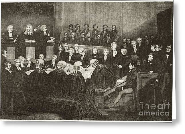 Chartists Treason Trial, 19th Century Greeting Card by Middle Temple Library