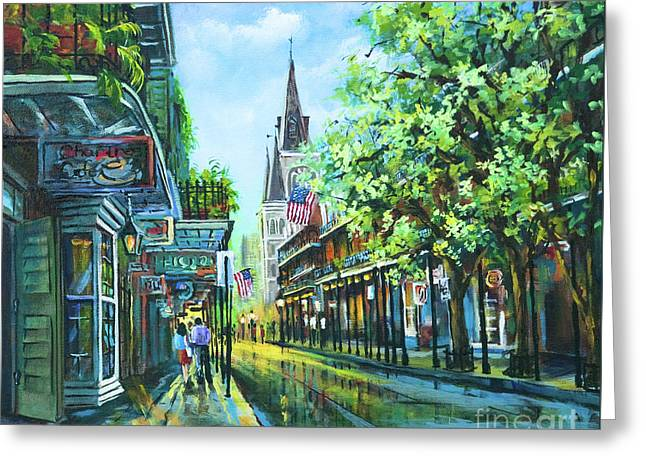 Chartres Afternoon Greeting Card by Dianne Parks