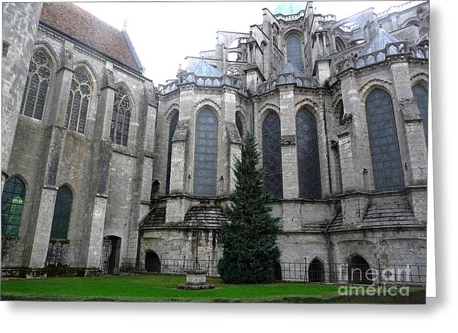 Greeting Card featuring the photograph Chartres Cathedral by Deborah Smolinske