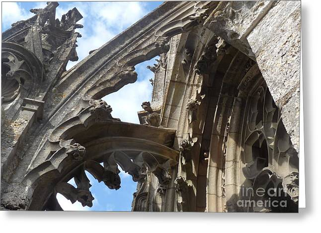 Greeting Card featuring the photograph Chartres Flying Buttress by Deborah Smolinske