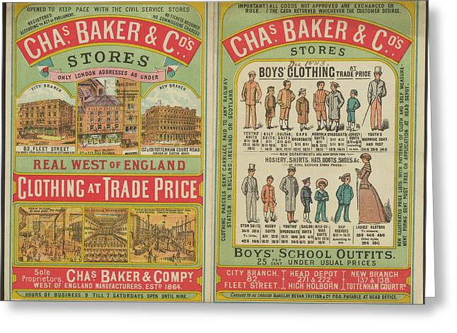 Chas Baker And Co. Stores Greeting Card