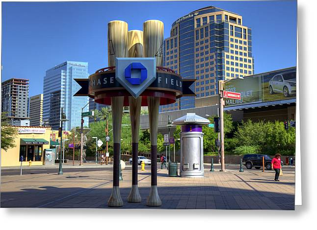 Chase Field Greeting Card by Ricky Barnard