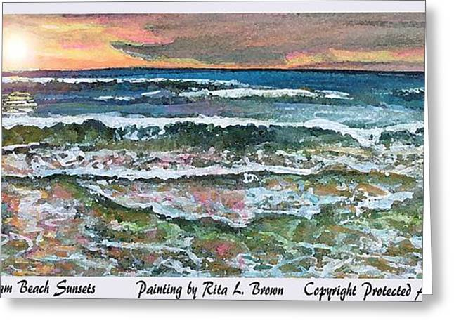 Chasing Chatham Beach Sunsets Greeting Card by Rita Brown