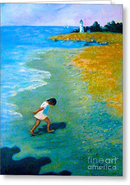 Chasing Shadows - 4 Greeting Card by Gretchen Allen