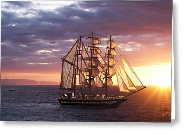 Chasing Sunsets Greeting Card