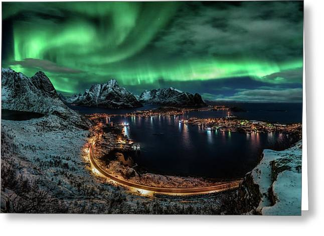 Chasing The Northern Lights Greeting Card