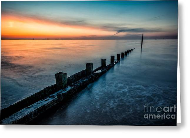 Chasing The Sunset Greeting Card by Adrian Evans