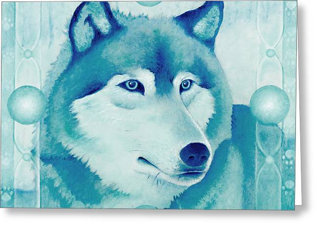 Chasing Wolf Greeting Card