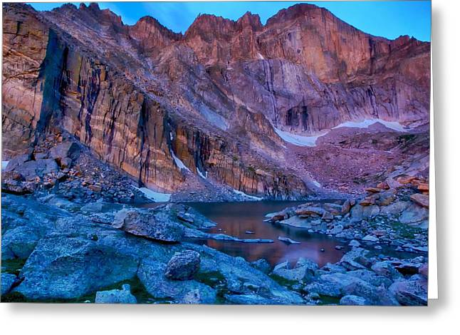 Chasm Lake Gold Greeting Card