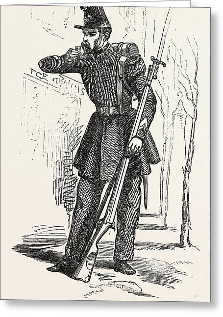 Chasseur De Vincennes Greeting Card by English School