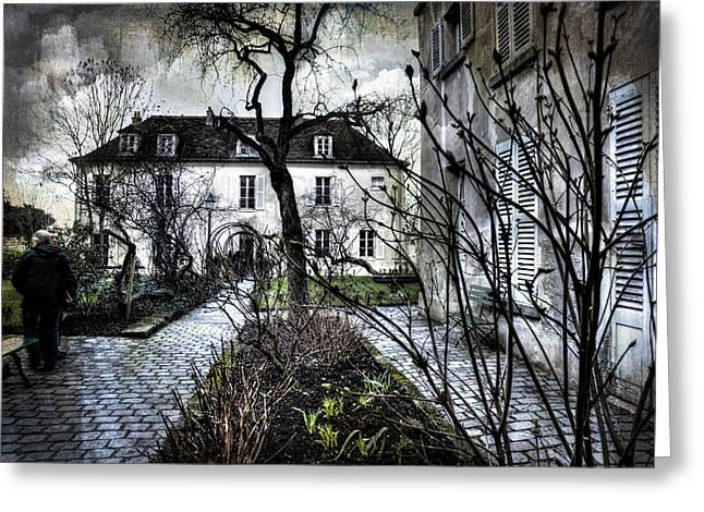 Chat Noir Gallery Paris France Greeting Card by Evie Carrier