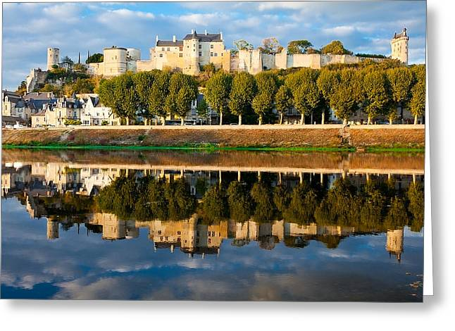 Chateau Above And Below Chinon  Greeting Card by Kirk Strickland