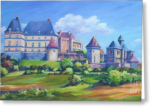 Chateau Biron  Dordogne Greeting Card by John Clark