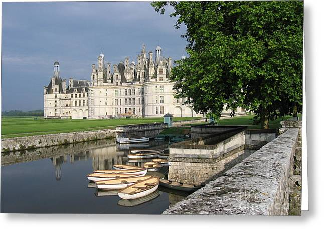 Chateau Chambord Boating Greeting Card