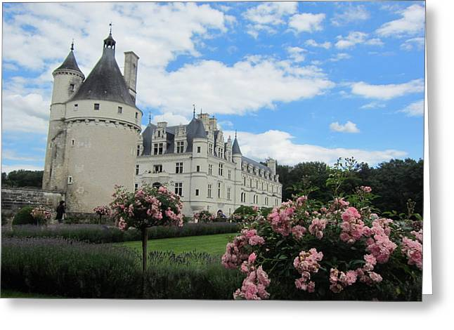 Greeting Card featuring the photograph Chateau Chenonceau by Pema Hou