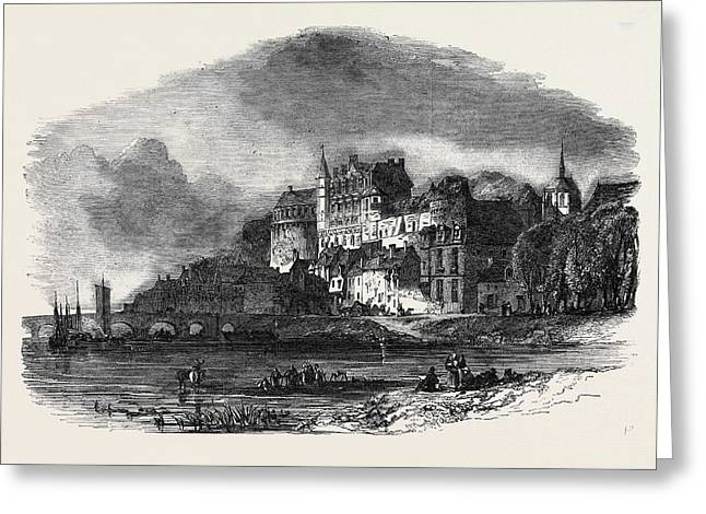 Chateau Damboise, On The Loire Greeting Card by English School