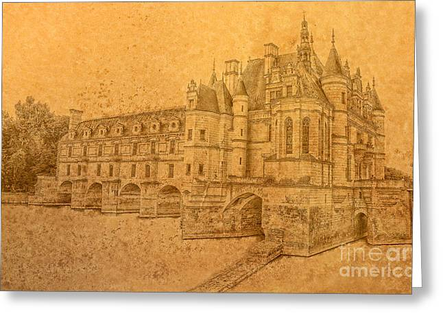 Greeting Card featuring the photograph Chateau De Chenonceau by Nigel Fletcher-Jones