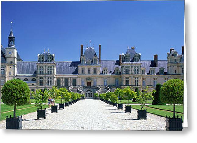 Chateau De Fontainebleau Ile De France Greeting Card by Panoramic Images