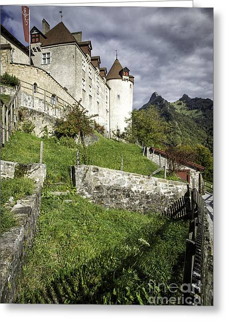 Chateau De Gruyeres Greeting Card by Timothy Hacker