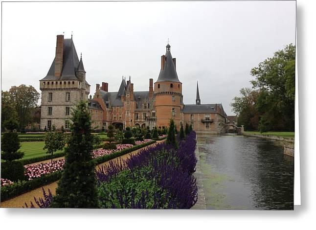 Chateau De Maintenon Greeting Card by Lois Ivancin Tavaf