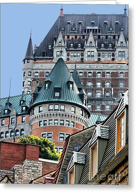 Chateau Frontenac Quebec Canada Greeting Card