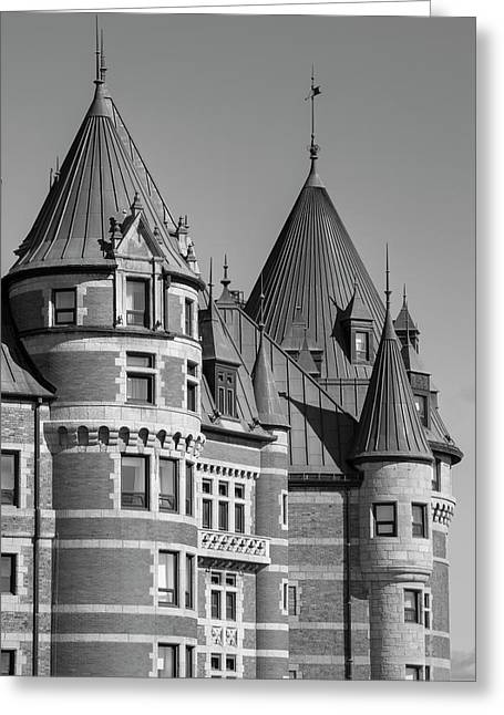 Chateau Frontenac  Quebec City, Quebec Greeting Card by David Chapman